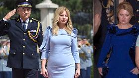 Inaugurační šaty Zuzany Čaputové stylisty nepotěšily, večerní róba se jim ale líbila.