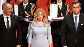 Nyní již bývalý slovenský prezident Andrej Kiska předal úřad své nástupkyni Zuzaně Čaputové