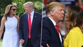 Trumpová výjimečně svolila k něžnostem.