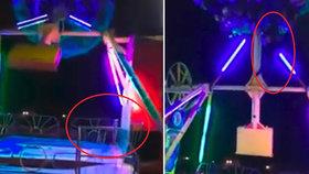 VIDEO: Hororový okamžik: Žena vypadla z atrakce! Ta s ní mrštila o plot