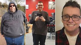 Muž vážil 200 kg. Stal se veganem a zhubl