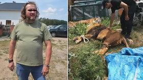 Mužem, kterého uštkla zmije, je majitel biparku, z něhož před časem utekly šelmy!