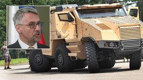 Ministr obrany Metnar potvrdil, že armáda nakoupí obrněné vozy za 6 miliard korun.