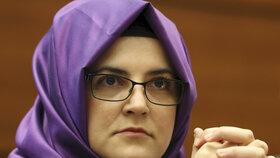 Hatice Cengizová, snoubenka zavražděného novináře Chášukdžího.