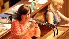 Ministryně financí Alena Schillerová (za ANO) často poslancům a poslankyním vysvětlovala, jak nakládá s penězi ze státního rozpočtu. (26. 6. 2019).