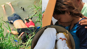 Truchlící vdova a matka Tania Vanessa Ávalosová musela v márnici identifikovat těla manžela Óscara Alberta Martínez Ramíreze (†26) a dcery Valerie (†23 měsíců), kteří se utopili, když se přes řeku Rio Grande snažili dostat do Spojených států.
