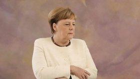 Kancléřka Merkelová na návštěvě u prezidenta Steinmeiera (27.6. 2019)