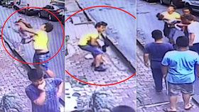 Alžířan zachytil  holčičku, která vypadla z okna.