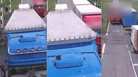 Neuvěřitelný manévr kamioňáka: Video zachytilo, jak hazardoval na přejezdu