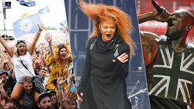 Na hlavním Pyramidovém pódiu na Glastonbury se již představily hvězdy jako Stormzy, George Ezra, Janet Jackson nebo Liam Gallagher.