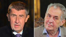 Babiš před odchodem ČSSD z vlády požádal o schůzku se Zemanem. Ustoupí prezident?