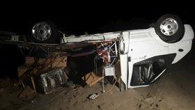 V Řecku zemřeli při bouři dva Češi, převrátil se s nimi karavan.