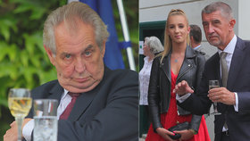 Na recepci na francouzskou ambasádu dorazili Miloš Zeman i Andrej Babiš s dcerou Vivien
