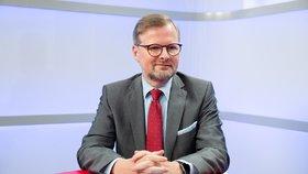 Předseda ODS Petr Fiala v Epicentru Blesk Zpráv (11. 7. 2019)