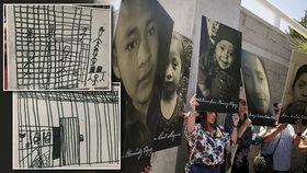 Děsivé kresby dětí migrantů. Dvě (†7) a (†8) zemřely v táboře. Lékařům nedovolili jim pomoct