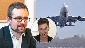 Inspirace Stropnickým? Pirátský europoslanec Peksa chce vyšší zdanění letecké dopravy