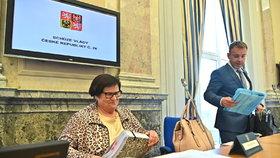 Jednání vlády: Ministryně spravedlnosti Marie Benešová (za ANO)