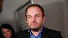 Kandidát na post ministra kultury ČSSD Michal Šmarda odpovídá na otázky médií (15. 7. 2019).