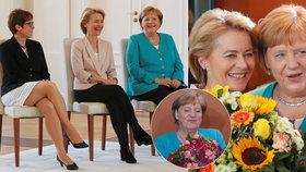 Merkelová slavila 65. narozeniny. A při jmenování nové ministryně obrany opět seděla (17. 7. 2019).