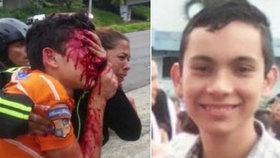 Chlapec byl postřelen při protestech.