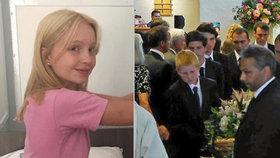 Pohřeb Iris Goldsmithové (†15) byl velmi dojemný.