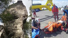 Náročný den horské služby: Na Klínovci se zranil malý cyklista (12), na Ústecku se zřítil horolezec