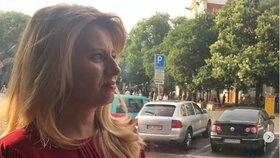 Slovenská prezidentka Zuzana Čaputová v tramvaji. (20.7.2019)