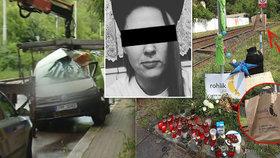 Nezvyklá pieta pro kurýrku Janu (†28), kterou smetla tramvaj: U pomníčku firemní taška s nákupem!