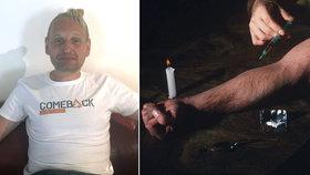 Dominik (45) vyprávní, jak propadl drogám už za totality