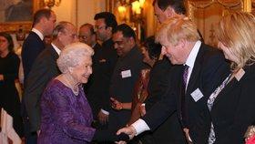 Boris Johnson s královnou Alžbětou II.