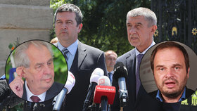 Spor mezi Babišem, ČSSD a Zemanem pokračuje