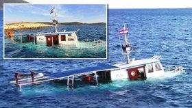 Drama v Chorvatsku: Potopila se tu oblíbená loď s dětmi na palubě