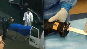 V laboratoři našli agenti FBI mužské tělo s přišitou ženskou hlavou.