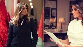 První dáma USA Melania Trumpová zahájila přípravy na Vánoce.
