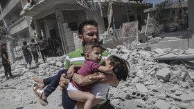 Nálet v Idlibu.