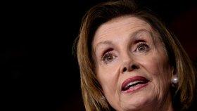 Demokratická šéfka Sněmovny reprezentantů Nancy Pelosiová.