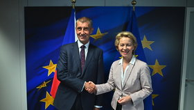 Premiér Babiš v Bruselu s Ursulou von der Leyenovou