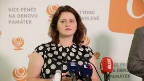Ministryně práce a sociálních věcí Jana Maláčová (ČSSD) požaduje 11 miliard navíc k návrhu rozpočtu pro svůj resort. (31.7.2019)