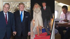 Prezident, premiér i ministr zahraničí vyrazí na podzim na další zahraniční cesty. Kdo poletí nejdál?