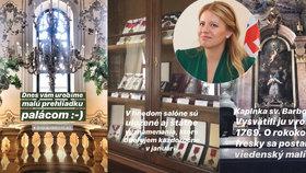 Slovenská prezidentka Zuzana Čaputová ukázala detaily paláce slovenských prezidentů