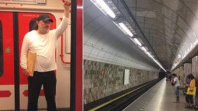 Ladislav Jakl nastoupil do pražského metra a porval se s neznámým útočníkem. Odnesl si z toho řadu poranění.