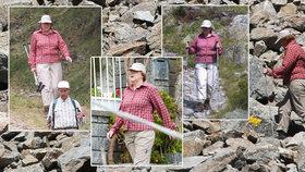 Německá kancléřka Angela Merkelová v Jižním Tyrolsku.