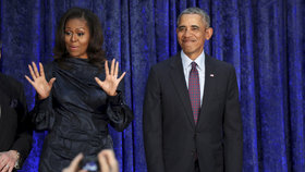 Michelle Obama s manželem Barackem