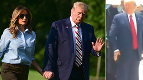 Prezident Trump si na manželku zavolal jako na psa.