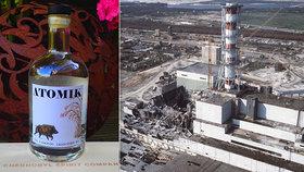 Černobylská vodka Atomik