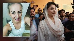 Pákistánská politička a dcera bývalého premiéra Maryam Navázová (45) skončila za mřížemi