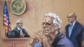 Jeffrey Epstein (†66) u soudu.
