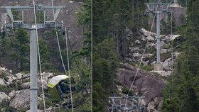 V horách se zřítilo 30 kabinek lanovky: Někdo přeřezal lano?!