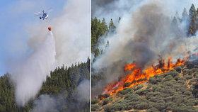 Požáry na španělském ostrovu Gran Canaria.