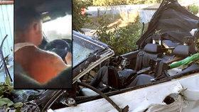 Řidič BMW zabil riskantní jízdou tři lidi včetně tříletého dítěte. A utekl (11. 8. 2019)